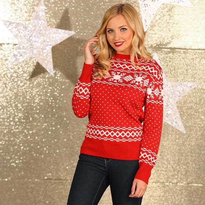 Christmas Shop Women's vintage knitted jumper