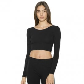 bca79a0a6f Long sleeve cotton Spandex jersey crop top (8379) Sale · American Apparel®  ...