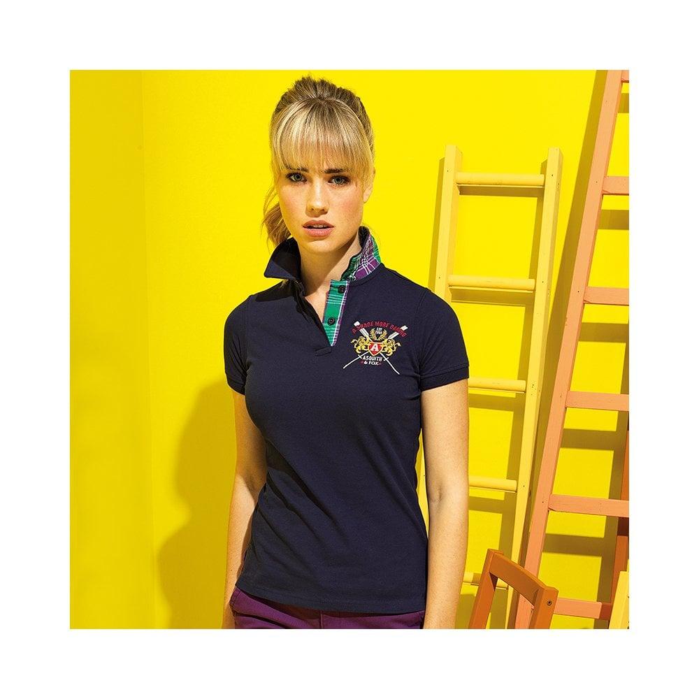 e53841f7 Women's check trim polo | BuytshirtsOnline