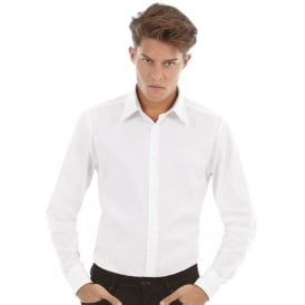B & C Long Sleeve Poplin London Shirt