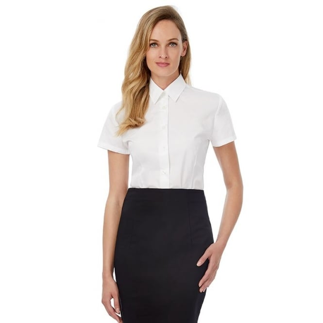 B & C Collection Smart Small Sleeve Womens