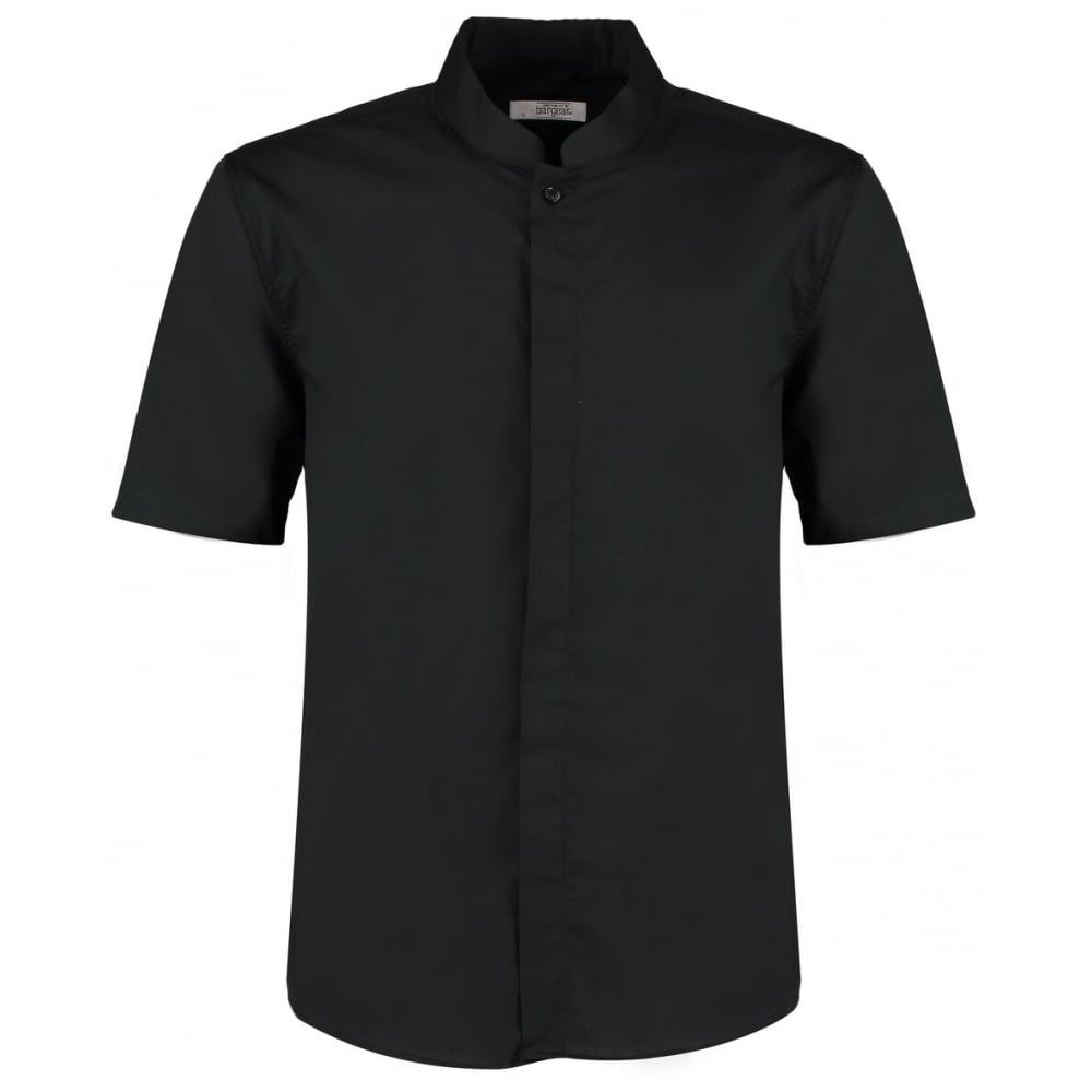 ae5503099 Bargear Mens Short Sleeved Bar Shirt Mandarin Collar KK122 ...