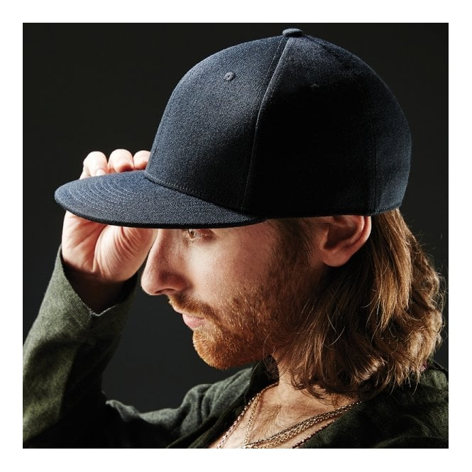 Beechfield Headwear Signature fitted flat peak cap