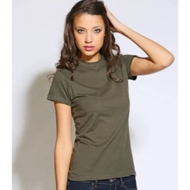 Jersey short sleeve crew neck T-shirt