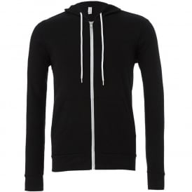 Unisex Zip-Up Poly/Cotton Fleece Hoodie