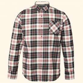 Ernest - long sleeve brushed wide check shirt