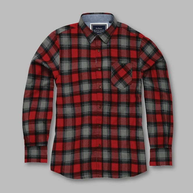 Brave Soul Garvey - long sleeve check shirt