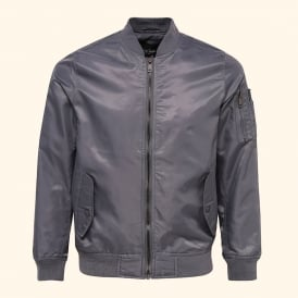 Gothernburg - nylon bomber jacket with contrast lining