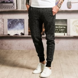 Hugo - detailed cuffed marl joggers