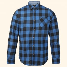 Jack - long sleeve printed check heavily brushed shirt