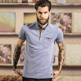 Locke - placket polo with woven detail