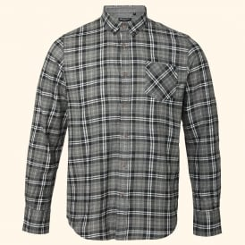 Tycho - long sleeve brushed check shirt