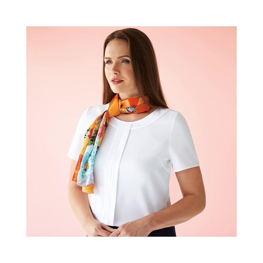 209cac6b70de5 Women  039 s Felina crepe de chine short sleeve blouse
