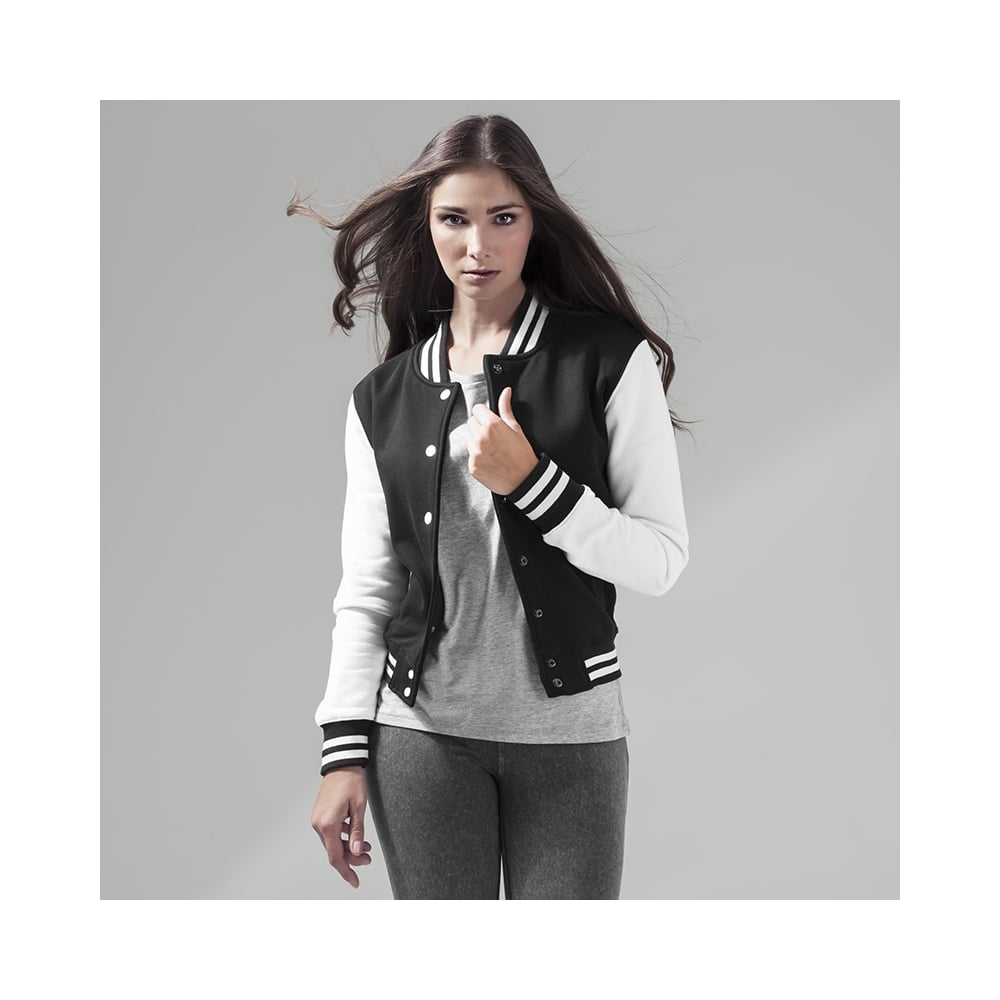 Build your Brand Womens Sweat College Jacket