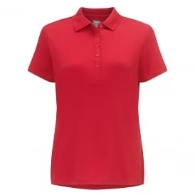 Women's classic chev solid polo shirt