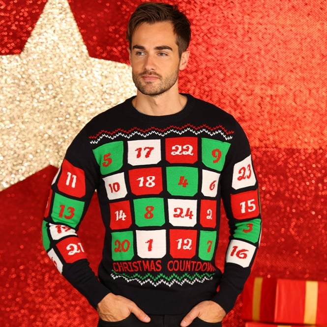 Christmas Shop 3D Advent calendar knitted jumper with pockets