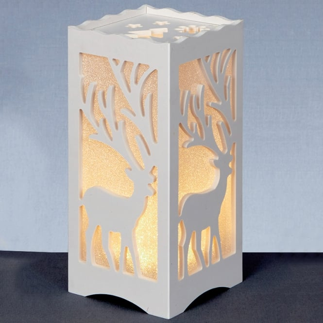 Christmas Shop Battery operated lit silhouette box