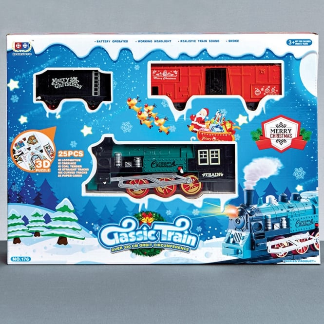 Christmas Shop Battery operated train set with sound
