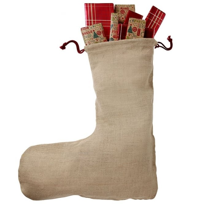 Christmas Shop Christmas jute stocking (space for personalisation)