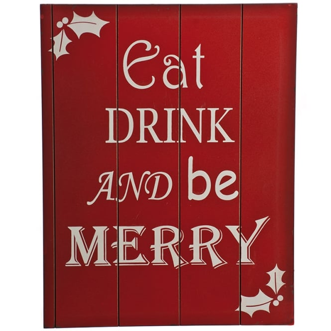 Christmas Shop Eat, drink and be merry sign