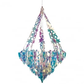 Holographic icicle chandelier