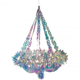 Holographic star chandelier