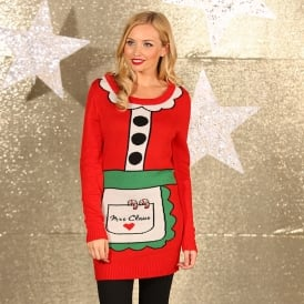 Mrs Claus - knitted Santa dress