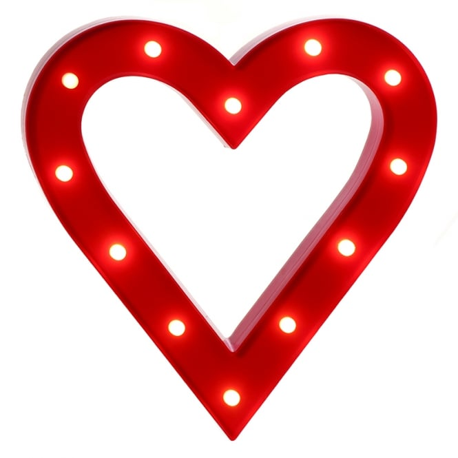Christmas Shop Red battery operated lit heart