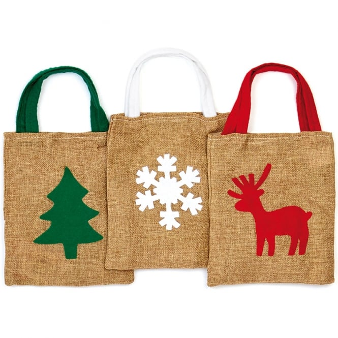 Christmas Shop Small jute bag