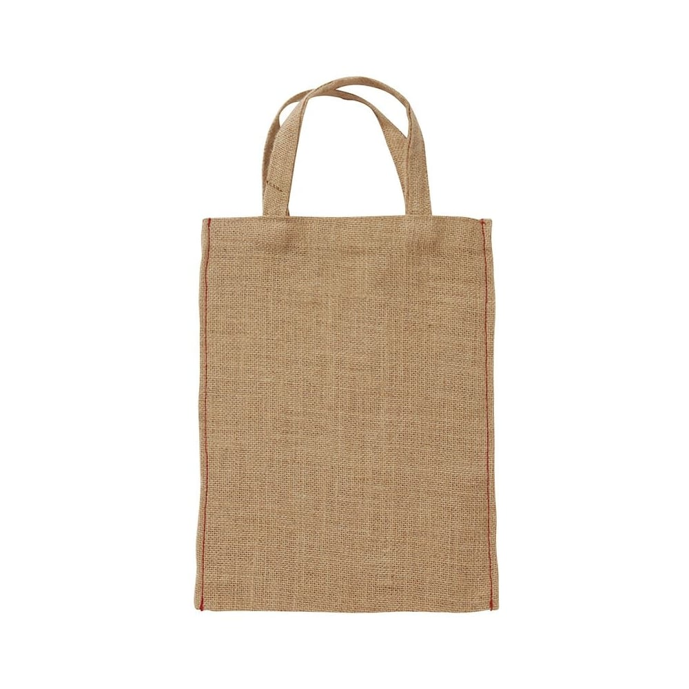 Small jute bag with handles space for personalisation buytshirtonline - Small space dehumidifier bags set ...