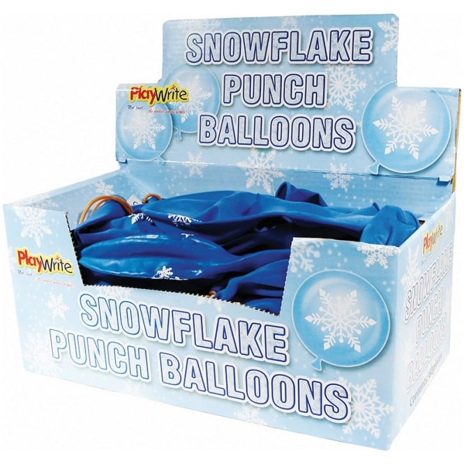 Christmas Shop Snowflake punch balloons (Pack of 12)
