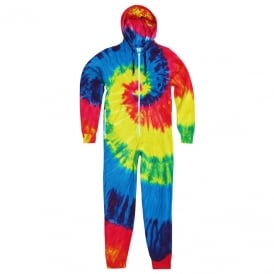 Rainbow tie-die all-in-one