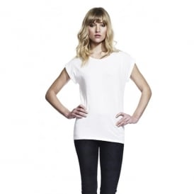 WOMEN'S BAMBOO ROLLED SLEEVE TUNIC T-SHIRT
