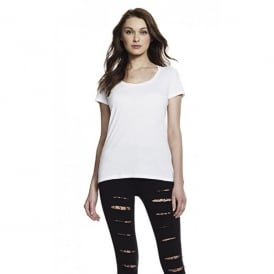 Womens Bamboo Twisted Neckline T-Shirt