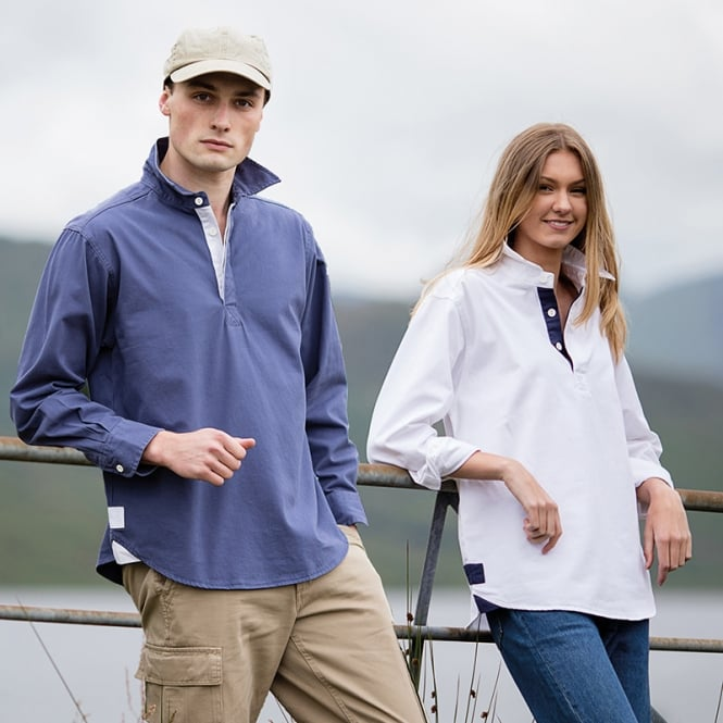 Front Row Long sleeve plain drill shirt