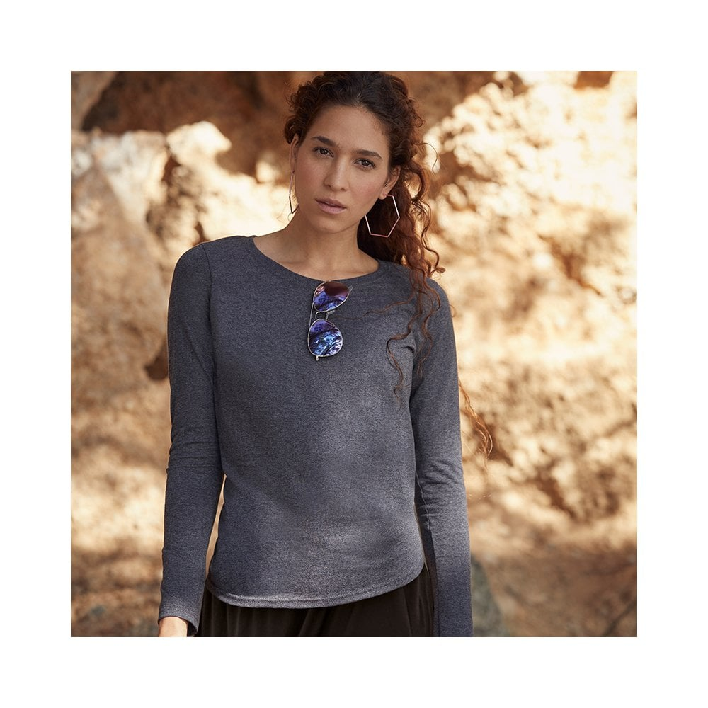 077c069c Fruit Of The Loom Lady-Fit Valueweight Long Sleeve T-Shirt 61404 ...