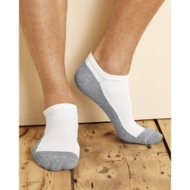 Gildan Platinum™ No Show Men's Socks (White)