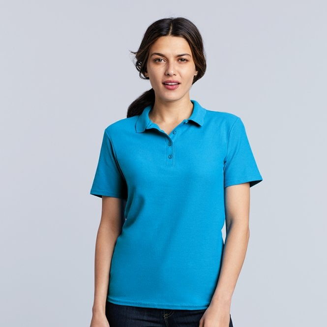 Gildan Women's softstyle double piqué polo