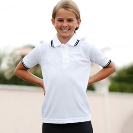 65/35 kid's tipped polo