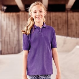 Schoolgear Childrens 65/35 Pique Polo