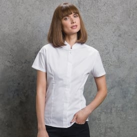 Women's Mandarin Collar Fitted Shirt