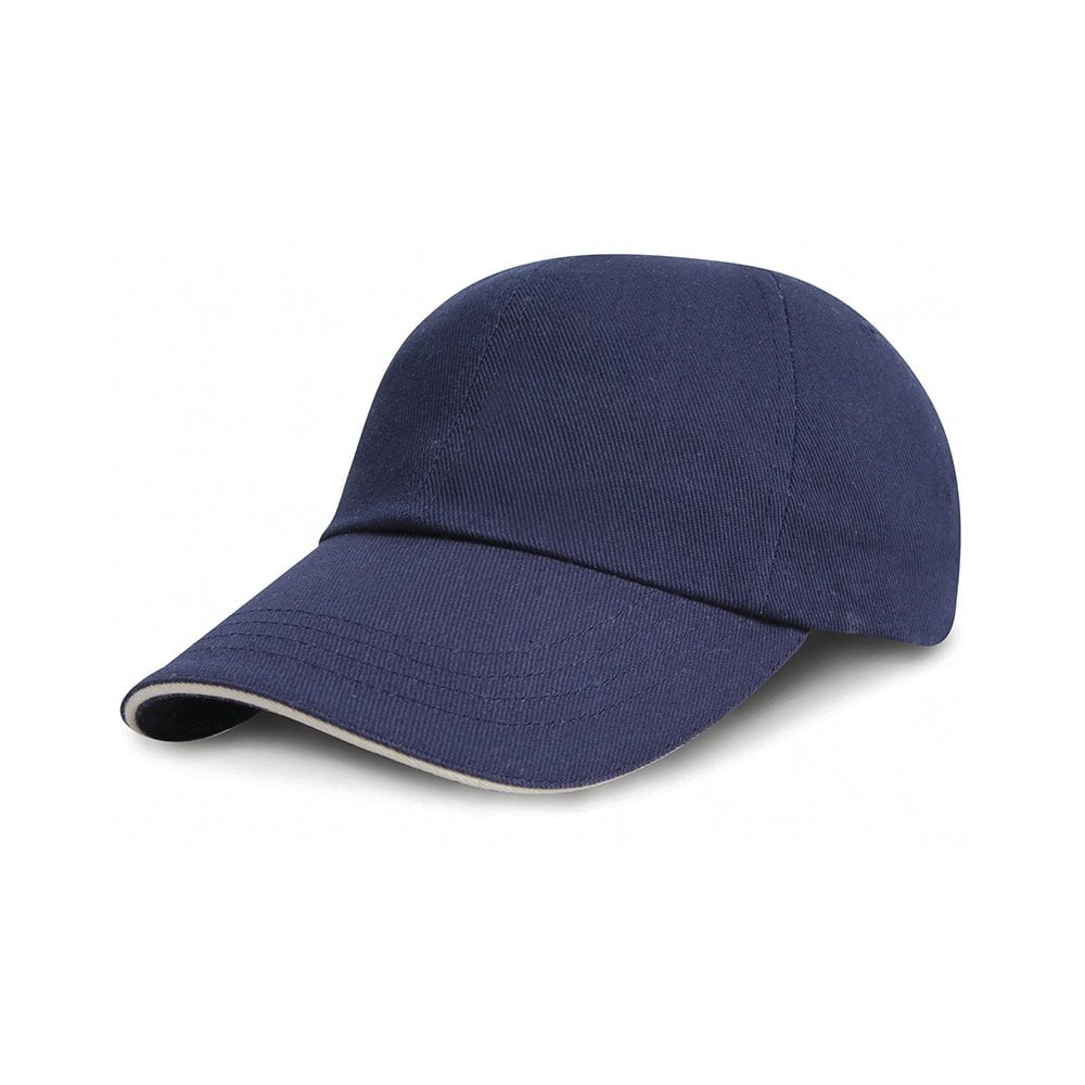 ef121184156 Junior low profile heavy brushed cotton cap with sandwich peak ...