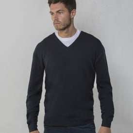 V-neck arcylic wool sweater