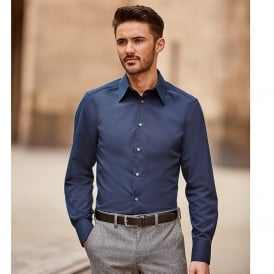 Long sleeveTencel® fitted shirt