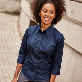 Women's 3/4 sleeve Tencel® fitted shirt
