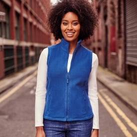 Women's full outdoor fleece Gilet