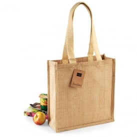 W/Mill Jute Compact Tote
