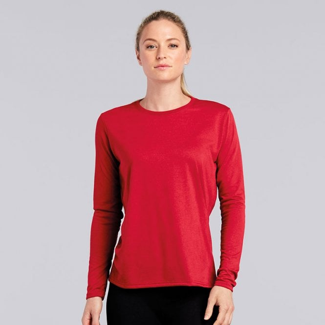 62af81b77 Women's Gildan performance long sleeve t-shirt | Buytshirtsonline