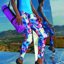 Women's TriDri® performance flower leggings full-length