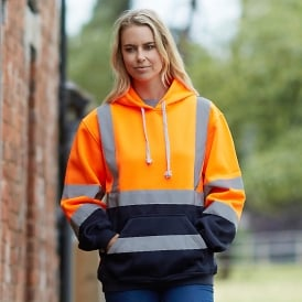 High visibility pull-over hoodie (HVK05)